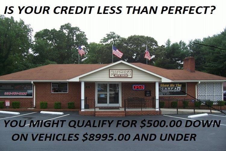 hatchers auto sales winston salem nc 27105 buy here pay here 500 down u ride used cars trucks. Black Bedroom Furniture Sets. Home Design Ideas