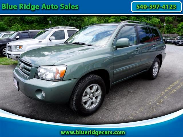 2004 Toyota Highlander V6 4WD with Third Row Seat