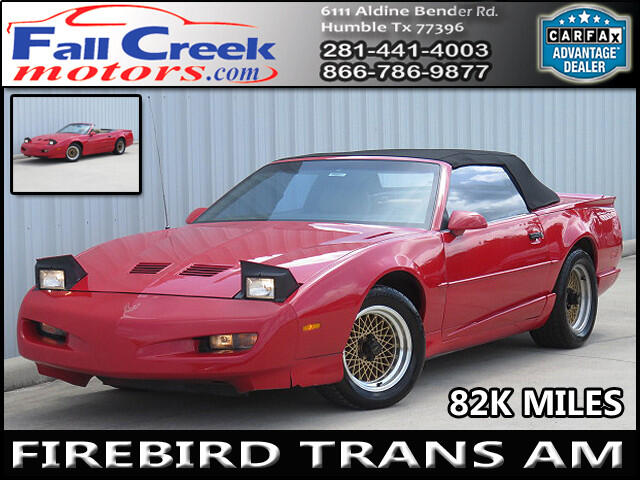 1991 Pontiac Trans Am Convertible
