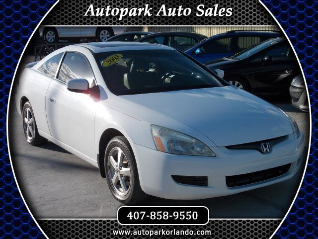 2003 Honda Accord EX Coupe AT with Leather and Navigation System