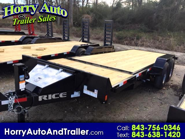 2018 Rice Partial Tilt 20 ft equipment hauler