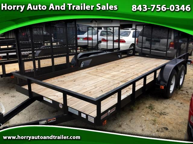 2015 Currahee LD616 6 x 16 w side gates