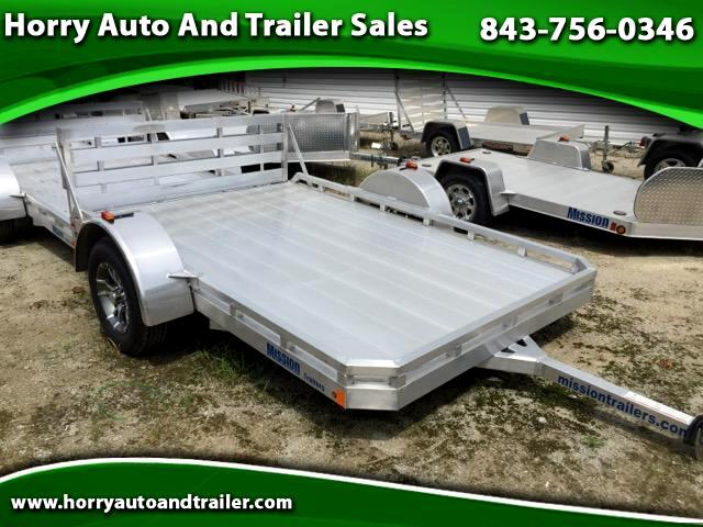 2016 Mission MU 6.5X10FA open trailer with fixed rails