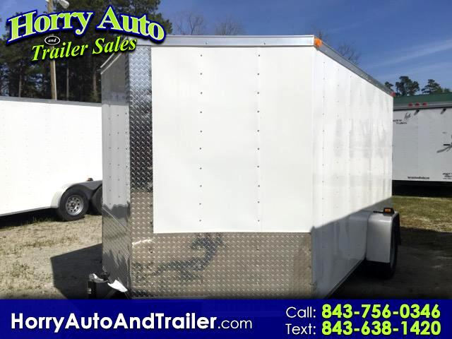 2016 Lark 7X12 SA v nose ramp door