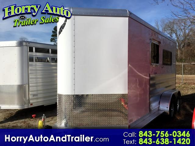 2017 Featherlite Trailers 9407 14 ft bumper pull 2 horse trailer