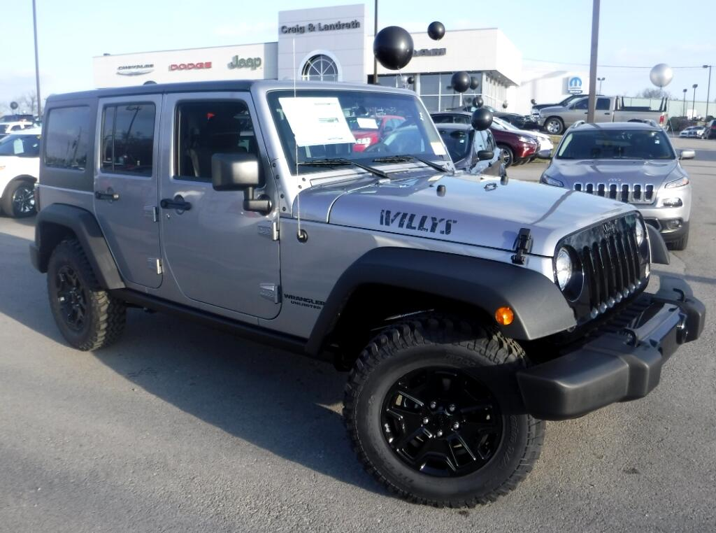 new 2017 jeep wrangler unlimited sport willys 4x4 for sale in crestwood louisville tri ky 40014. Black Bedroom Furniture Sets. Home Design Ideas