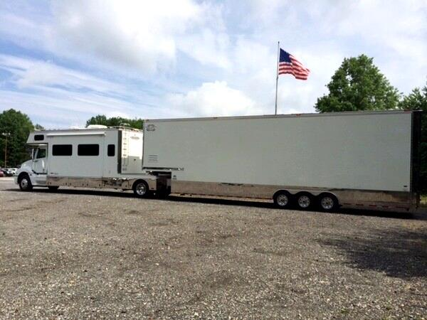 Stacker Trailer Lift : Used renegade stacker trailer ft life gate sold