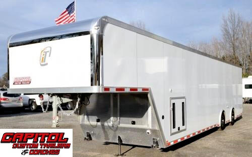 2016 Intech Trailers Gooseneck 40Ft Custom Aluminum Trailer