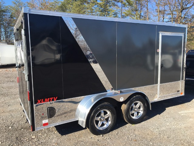 2016 United Trailers XLMTV 7X14 Motorcycle Trailer