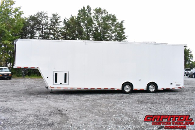 2018 Intech Trailers Gooseneck 40FT Gooseneck 2 Car Sprint Car Hauler