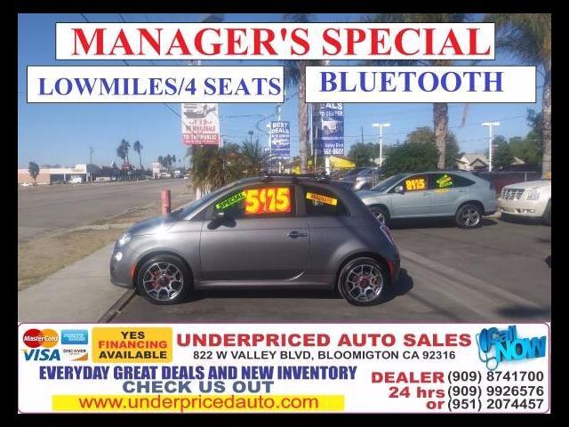 2012 Fiat 500 SPORT BLUETOOTH*4SEATS