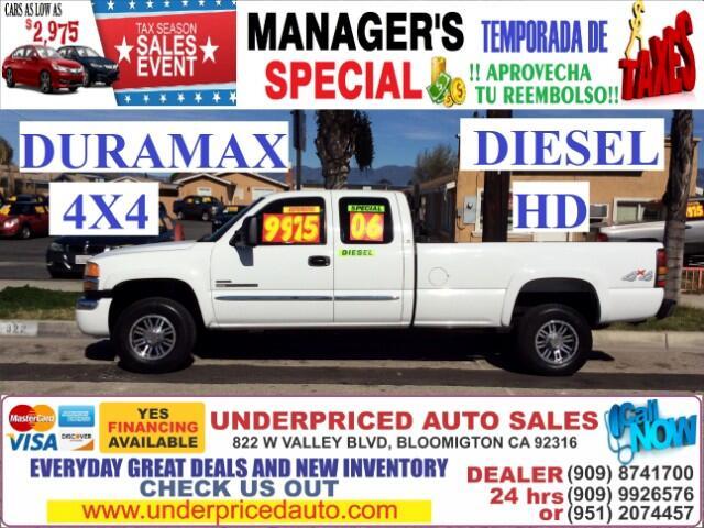 2006 GMC Sierra 2500HD SL EXT.CAB 4X4 DIESEL POWERFULL>>>>>>