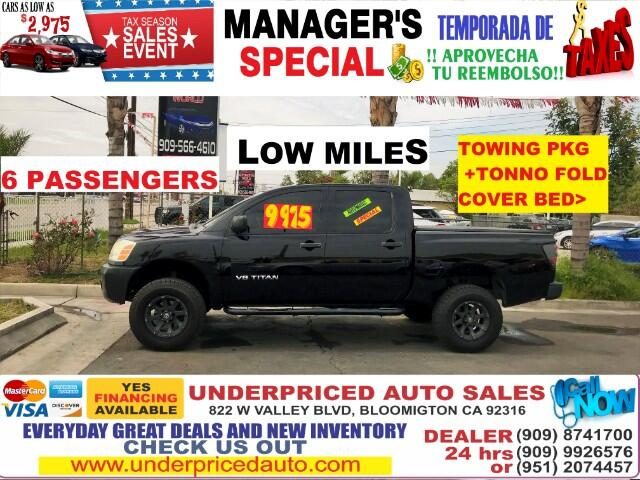 2006 Nissan Titan LE CREW CAB WITH TONNO FOLD COVER BED