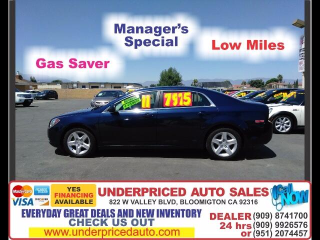 2011 Chevrolet Malibu LS-4 CYLINDERS/LOW MILES