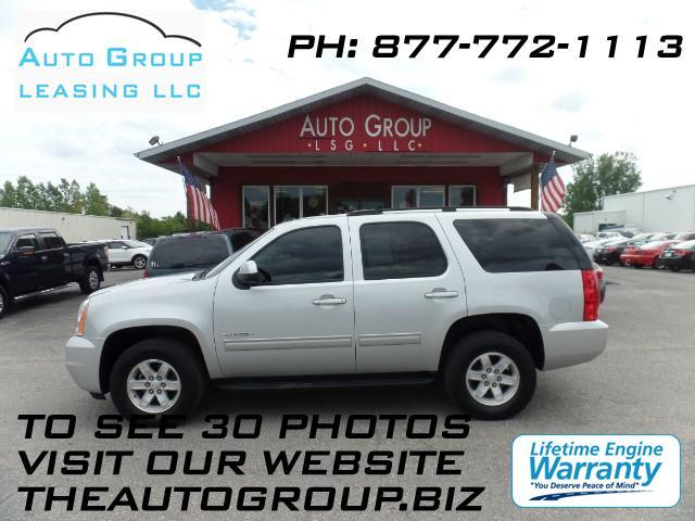 2014 GMC Yukon Our 2014 GMC Yukon SLE 4x4 on display in Quicksilver Metallic has all the power and