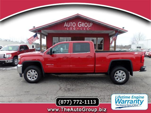 2015 GMC Sierra 2500HD Redesigned for 2015 our GMC Sierra 2500 SLE Crew Cab 4WD displayed in handso