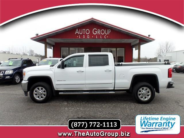 2015 GMC Sierra 2500HD Redesigned for 2015 our GMC Sierra 2500 SLT Crew Cab 4WD displayed in handso