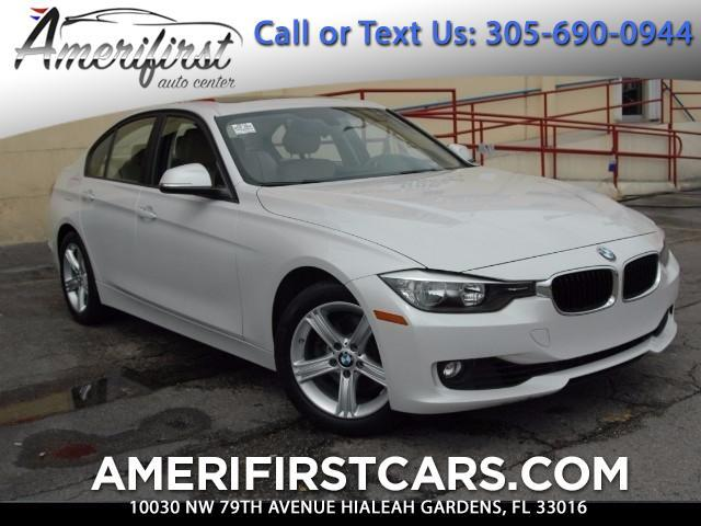 2013 BMW 3-Series  WE FINANCE EVERYONE  ONE OWNER  FREE CLEAN CARFAX  WHITE  BEST COL
