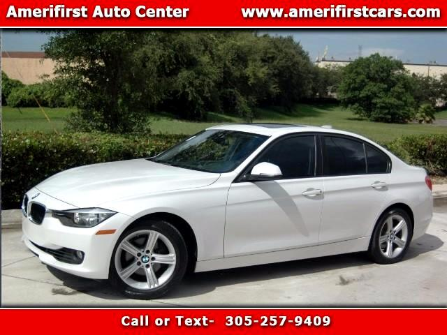 2013 BMW 3-Series  WE FINANCE EVERYONE  ONE OWNER  FREE CLEAN CARFAX  WHITE ON BLACK