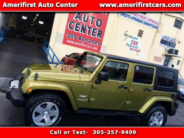 2008 Jeep Wrangler  WE FINANCE EVERYONE  Unlimited Sahara 4WD  6 SPD MANUAL TRANSMISSION