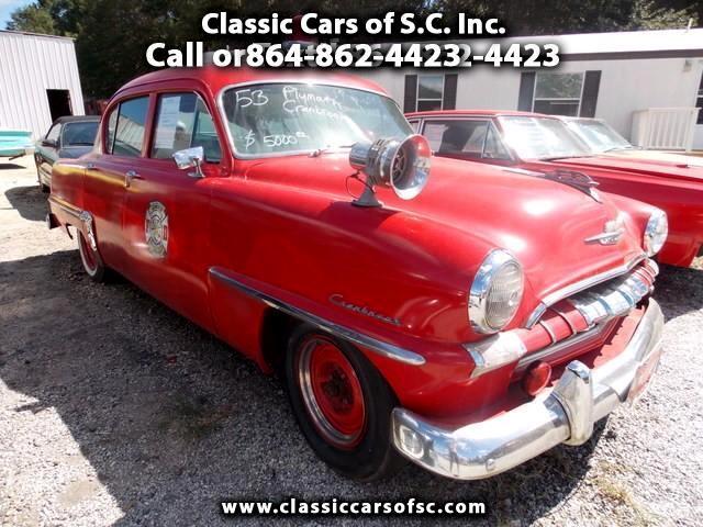 1953 Plymouth Cranbrook 4 d Sedan Fire Chiefs car