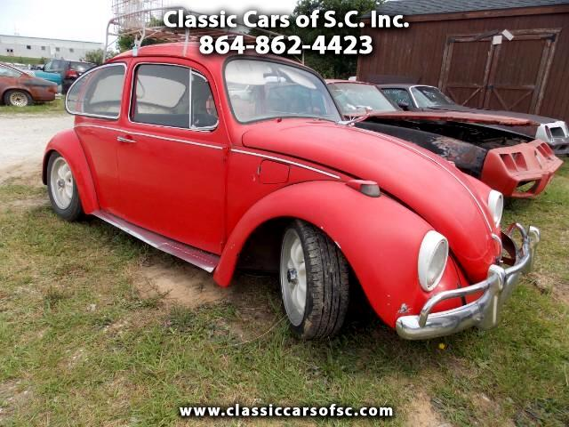1969 Volkswagen Beetle roof mounted luggage rack
