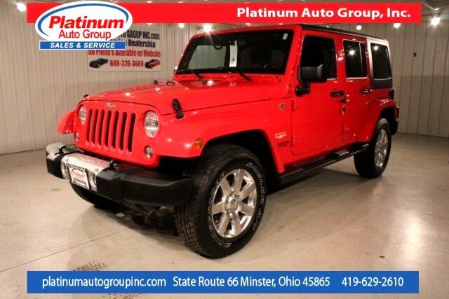 2015 Jeep Wrangler Unlimited Sahara 4D Sport Utility