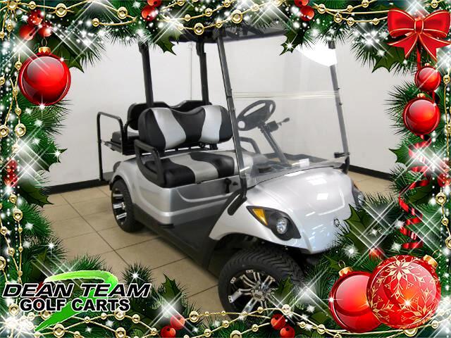 Golf Cart Christmas Decorations.Image