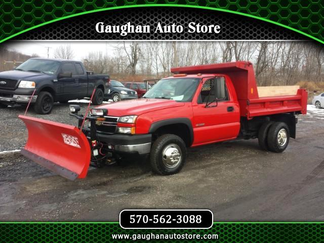 2007 Chevrolet Silverado Classic 3500 LS DRW 4WD DUMP BODY WITH 8 FT BOSS PLOW