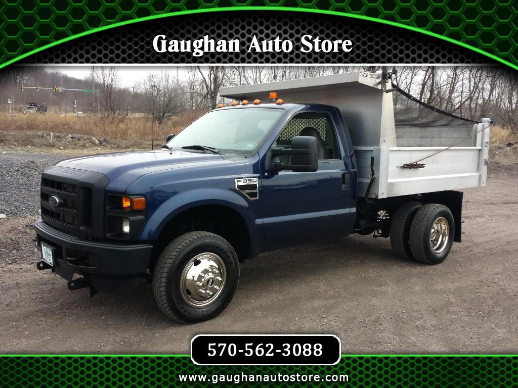 """2009 Ford Super Duty F-350 DRW 4WD 137"""" XLT WITH ALUMINUM DUMP BODY WITH FISHER P"""