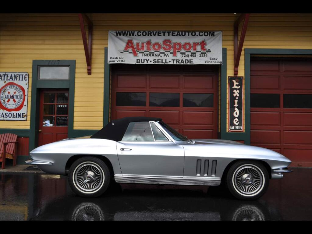 1966 Chevrolet Corvette #'s Matching Silver Pearl/Silver 350hp 4sp Low Mil