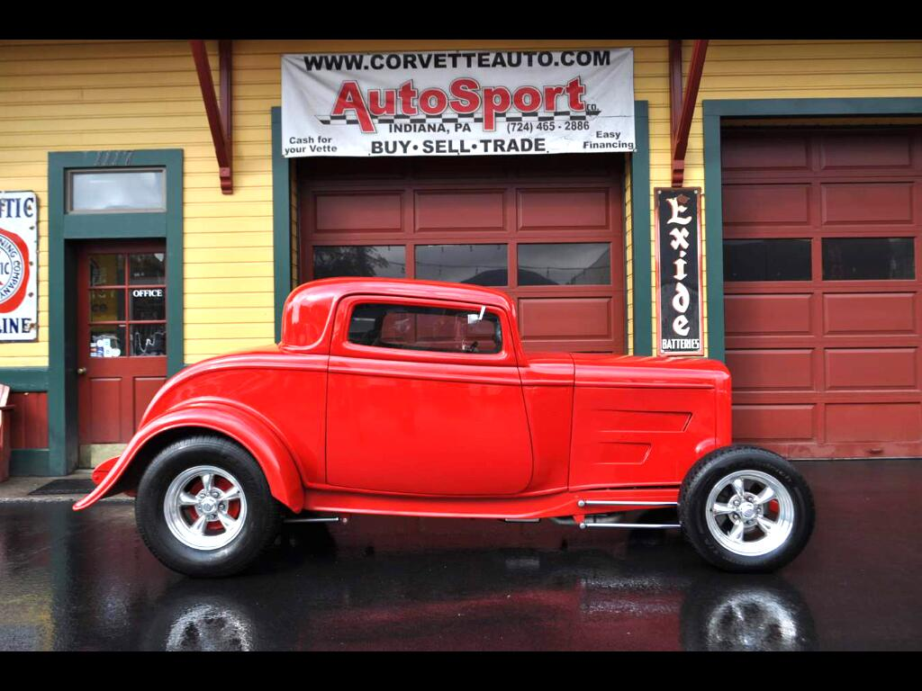 1932 Ford Model A 3 Window Deuce High Boy Coupe w/ Cold AC!