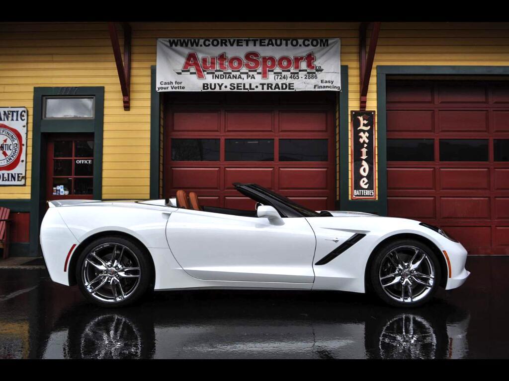 2014 Chevrolet Corvette Stingray Z51 Artic White/Kalahari 9k Miles!