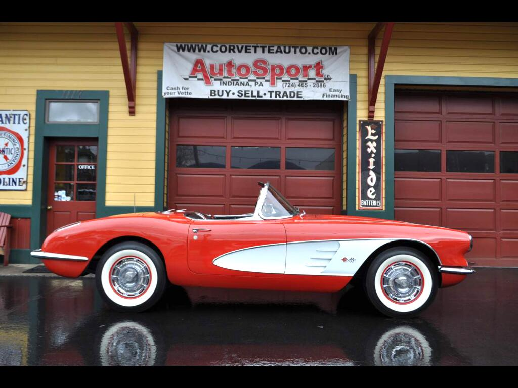 1960 Chevrolet Corvette Roman Red/Black Restored w/ Docs