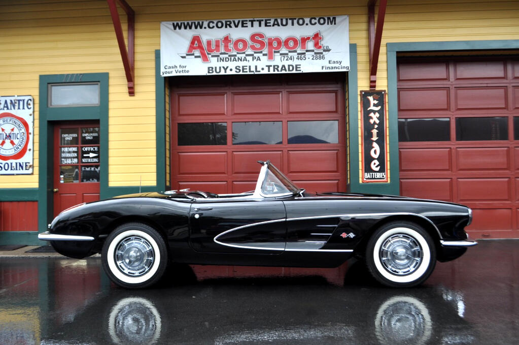 1960 Chevrolet Corvette Numbers Match 2X4s Black on Black