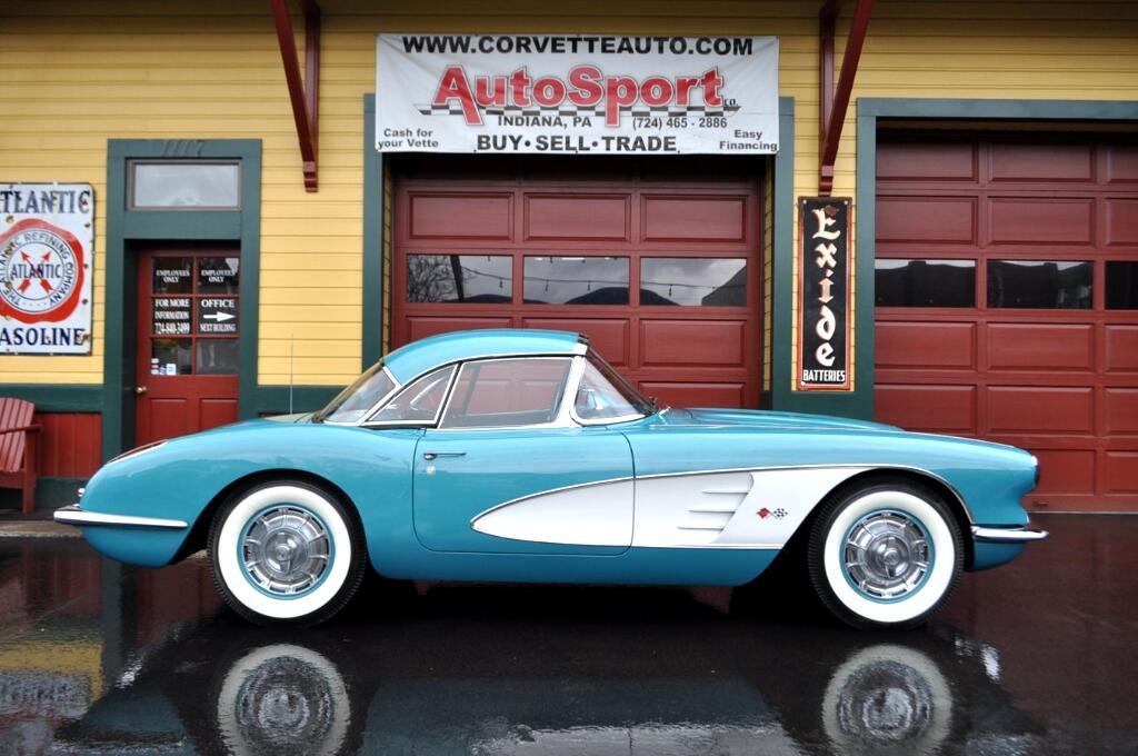 1960 Chevrolet Corvette Extremely Rare Tasco Turquoise 270hp