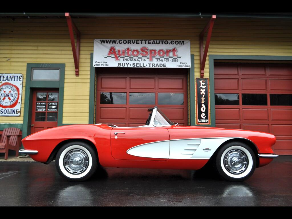 1961 Chevrolet Corvette 2x4's 270hp restored Roman Red!