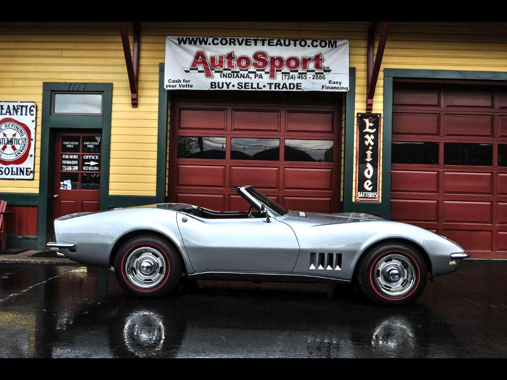 1968 Chevrolet Corvette #'s Matching 350hp 4sp Silverstone Silver!