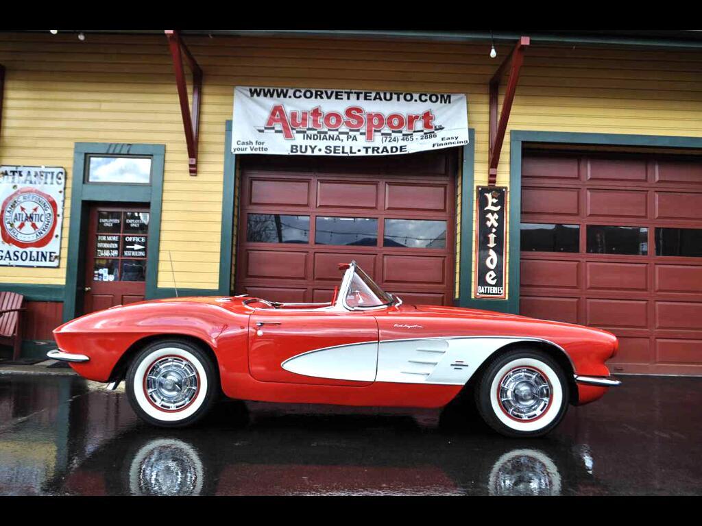 1961 Chevrolet Corvette Roman Red/Red Born Fuelie