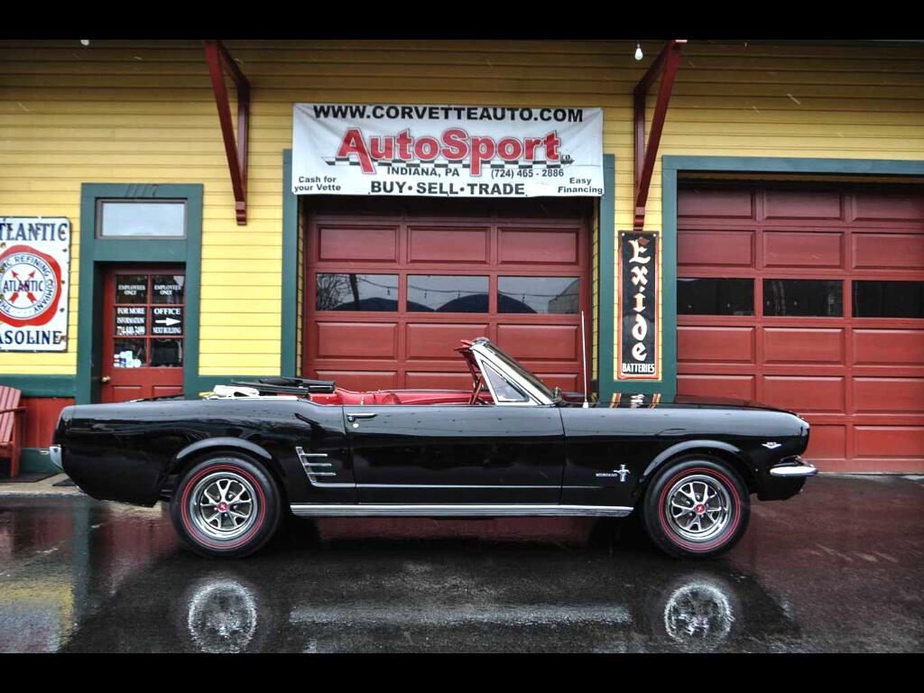 1966 Ford Mustang Original Raven Black/Red 289ci V8 Convertible!