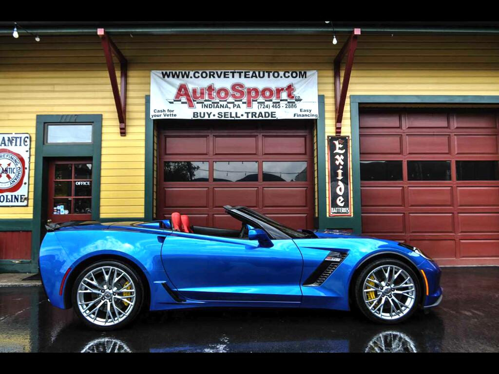 2016 Chevrolet Corvette Laguna Blue Adrenaline Red 3LZ 4k Miles 7 Speed