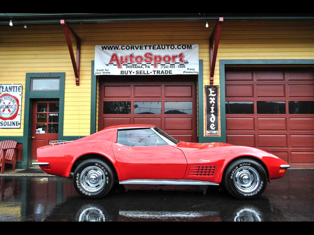 1972 Chevrolet Corvette #s Matching AC Loaded Real Red/Black Corvette