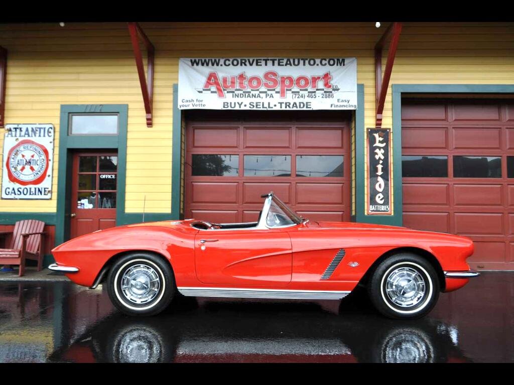 1962 Chevrolet Corvette #s Match 340hp Roman Red 2Tops Owner History