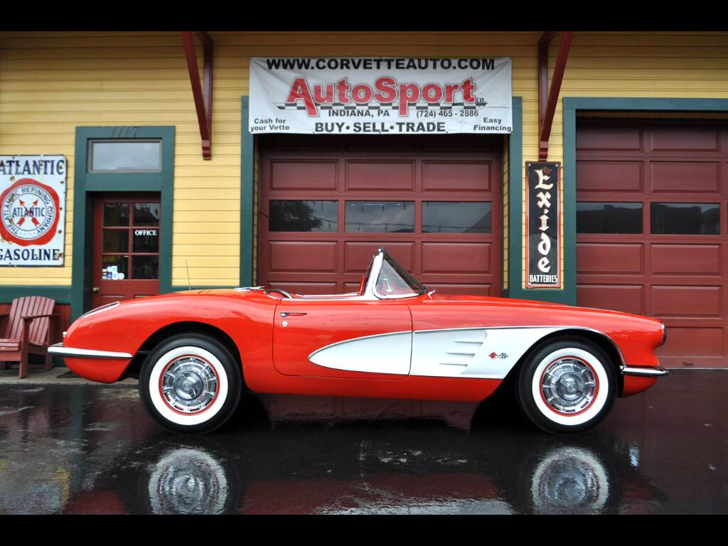 1960 Chevrolet Corvette Roman Red Red 2x4s 270hp 4sp