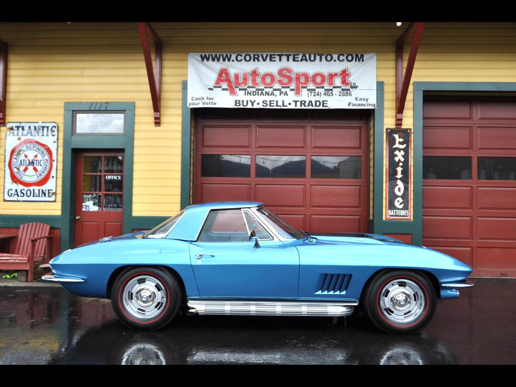 1967 Chevrolet Corvette 427ci 435hp 4sp Marina Blue Black Stinger