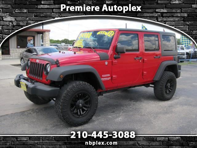 2012 Jeep Wrangler Unlimited Sport 4x4 Hard Top Lifted V-6 Alloys Aut