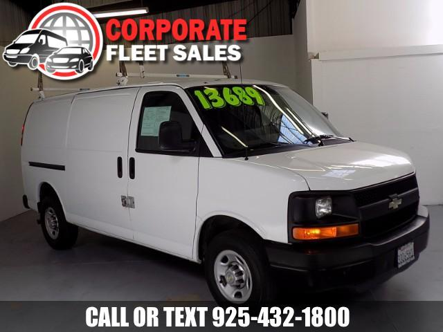 2011 Chevrolet Express V8 FLEX FUEL RWD WHITE EXTERIOR COLOR AND GRAY INTERIOR ROOF RACKS SPECI