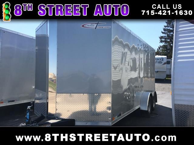 "2017 Cross Trailers 7x16 Ramp Door 6"" Extra Height"