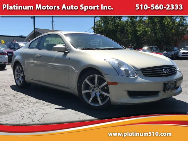 2006 Infiniti G35 Visit Platinum Motors Auto Sport Inc online at wwwplatinum510com to see more p