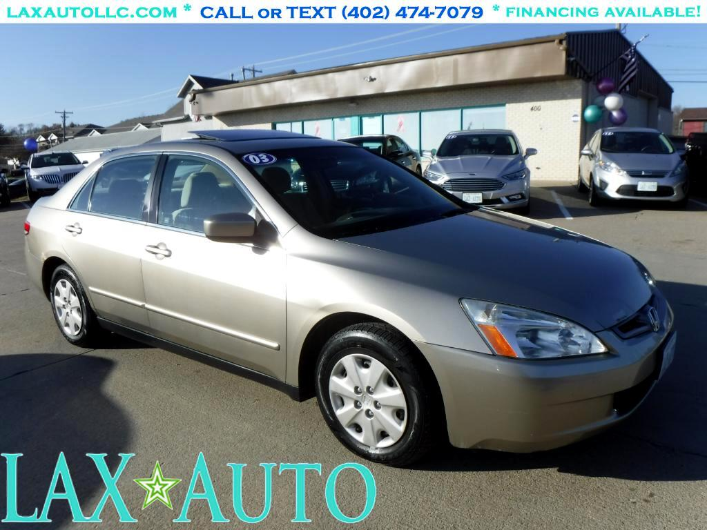 2003 Honda Accord LX Sedan * 122k miles * w/ Sunroof! Runs great!
